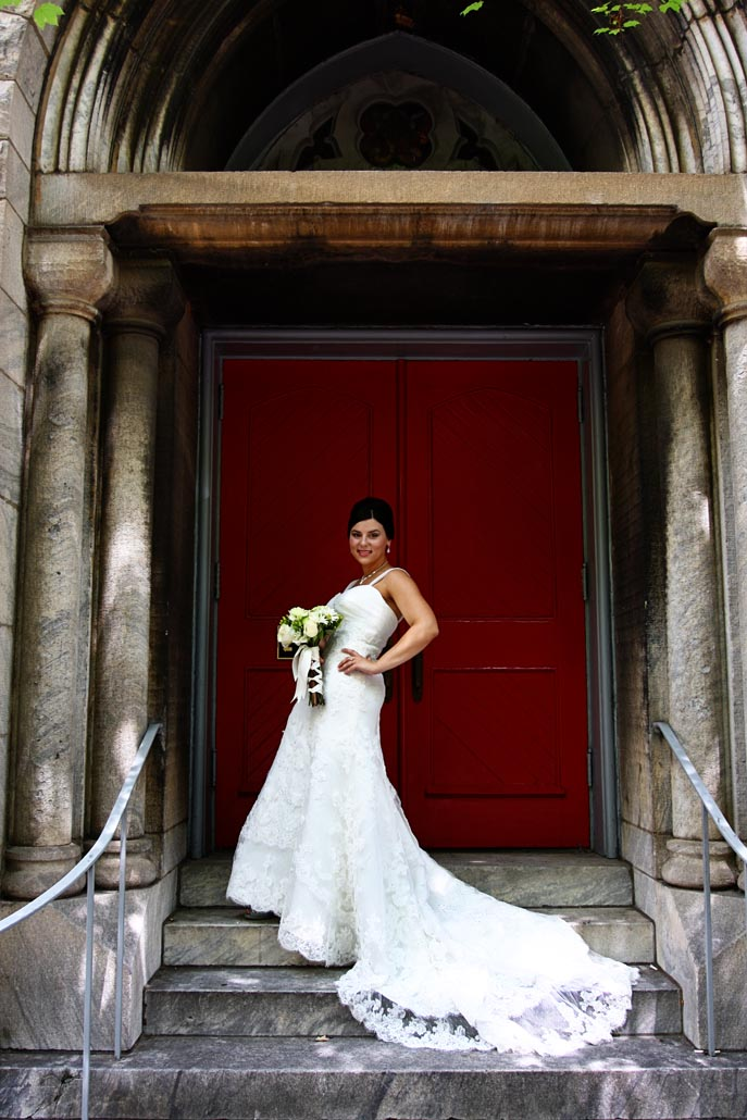 Bride with Red Door