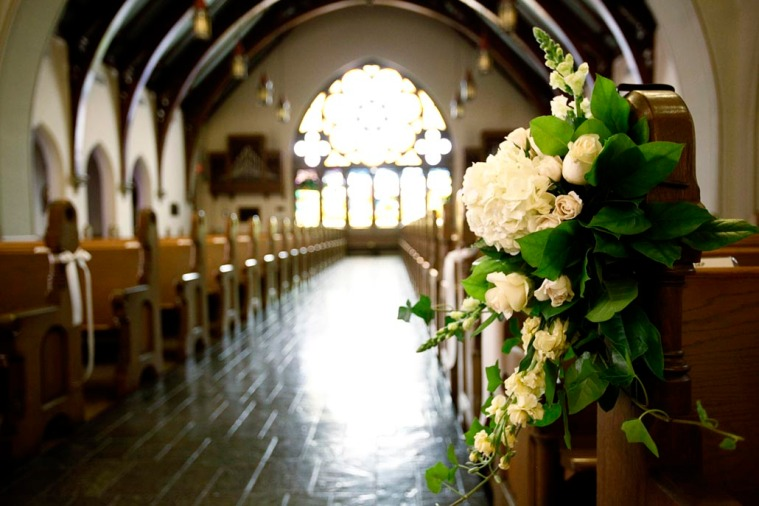 Church Aisle with Flowers
